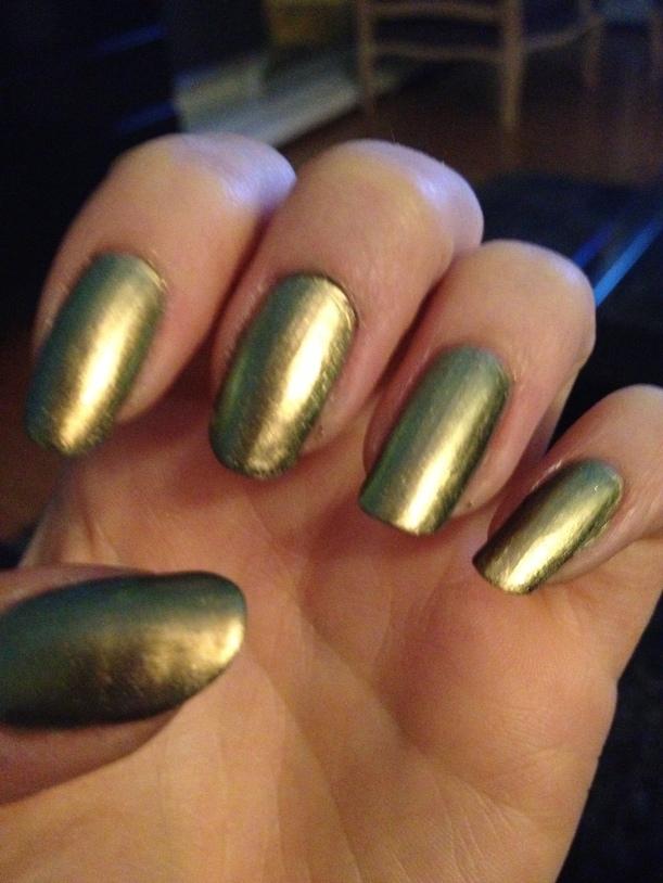 Green shimmer.