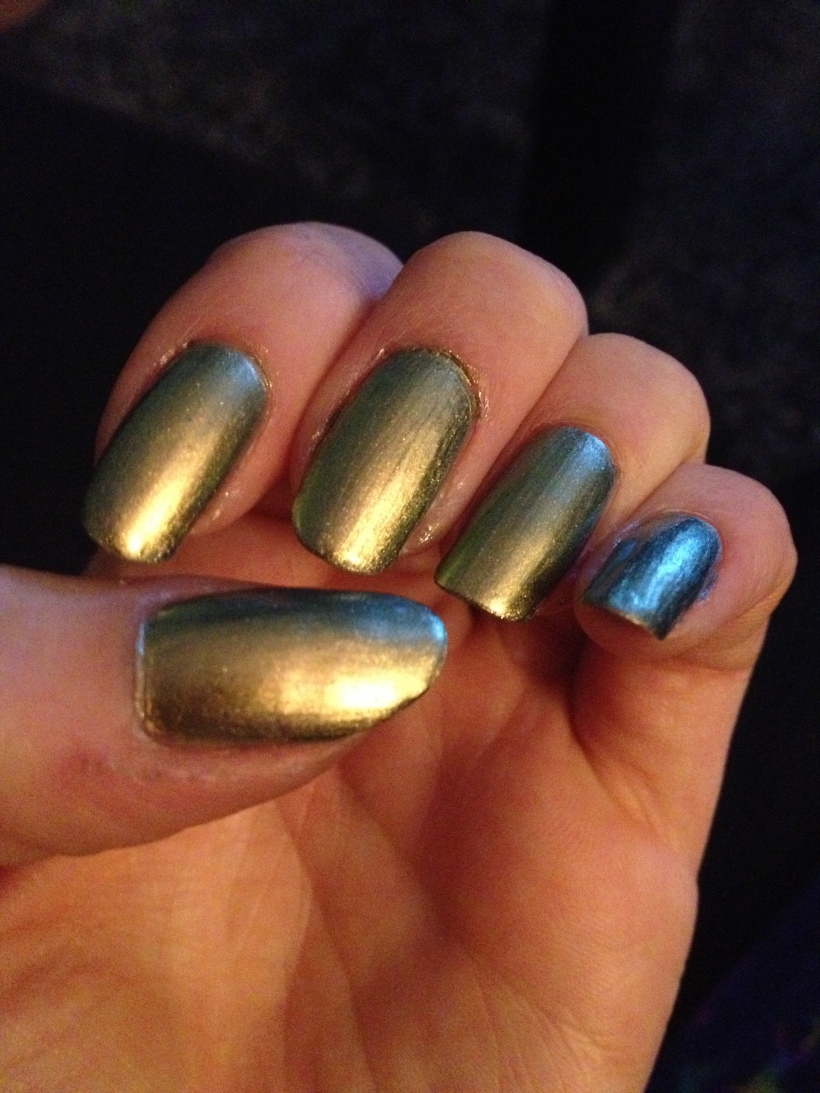 In this light the polish has warm undertones.
