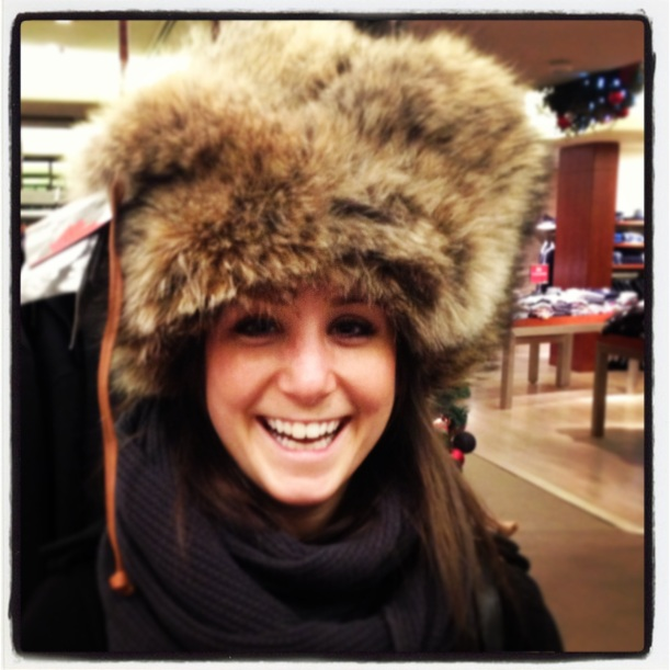 Tried to brave the frigid winter in this head turner.