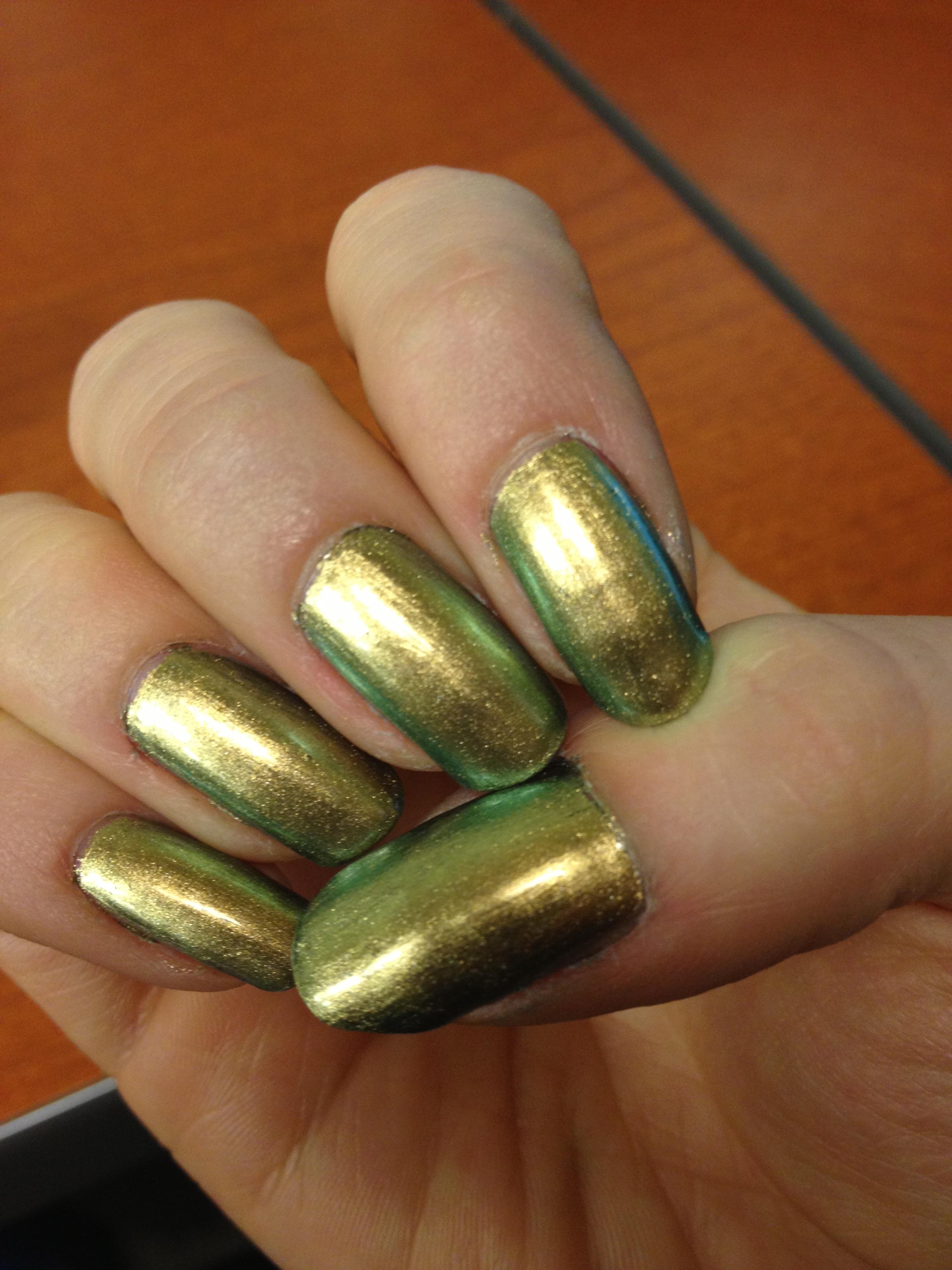 Gold Chrome Nail Polish Opi - To Bend Light