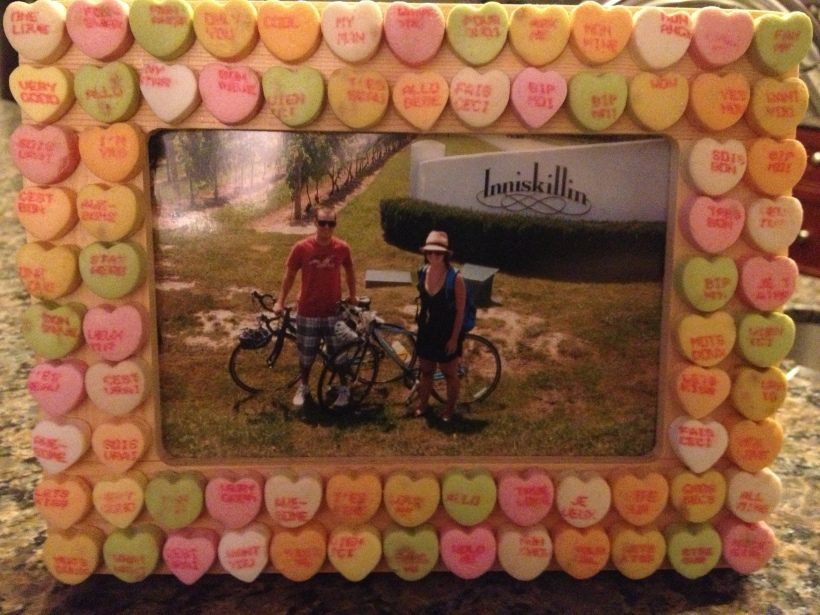 Conversation Heart Picture Frame