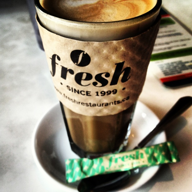 Nothing beats an almond milk latte... and a side of cookie to go ;).
