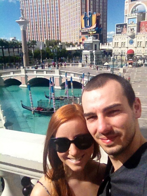 A throwback to our Euro trip earlier this year - outside the Venetian Hotel.