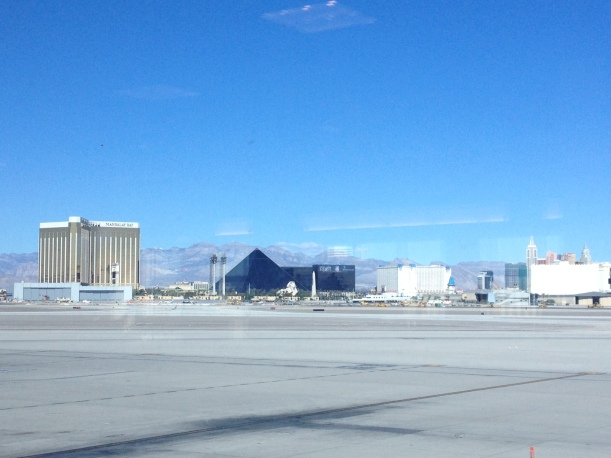 After an incredible long weekend we headed to the airport - stopping to take a picture of the strip before we left.