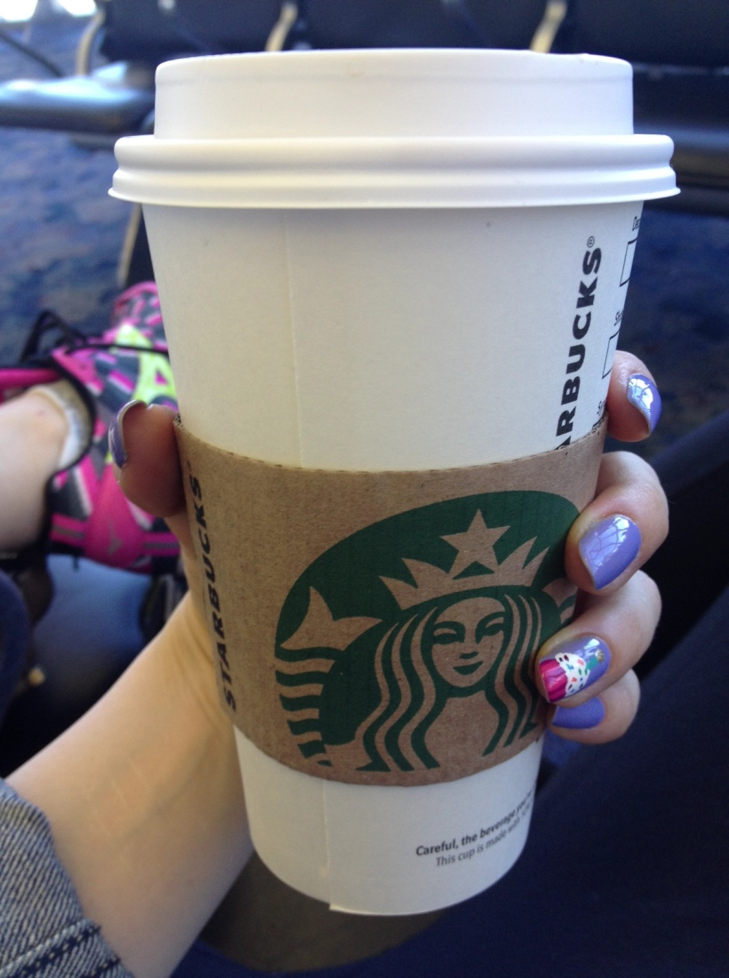 Obviously running shoes and Starbucks are airport essentials.