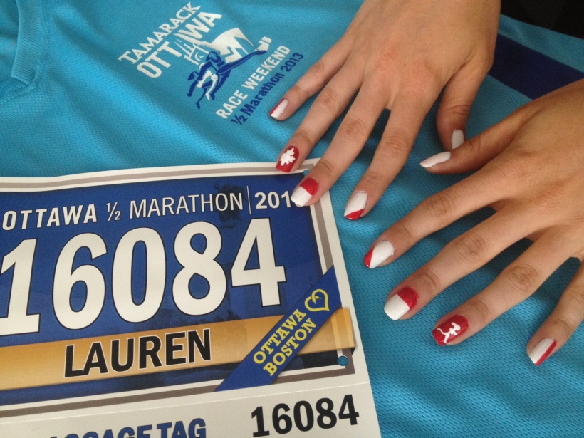 Running Race Day Manicure