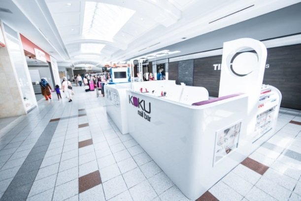KOKU Nail Art Bar - located in St. Laurent Shopping Centre.