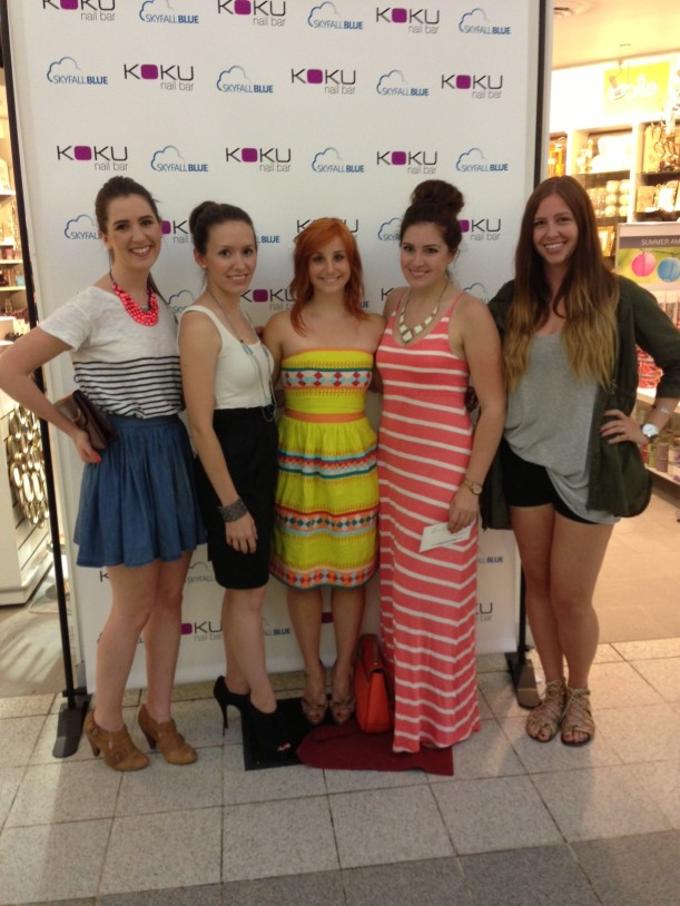 A few of the girls! From left to right, Maxine, Erin, Me, Darcy and Lauren