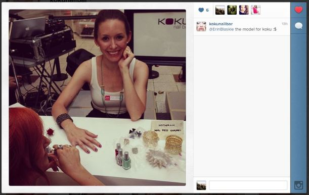 """Erin getting her """"blogger"""" manicure from me!"""