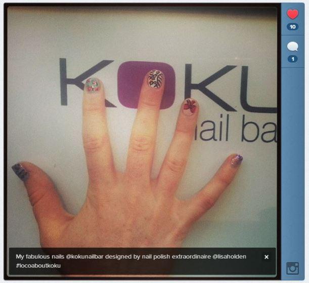 Emily rocking some great nail art!