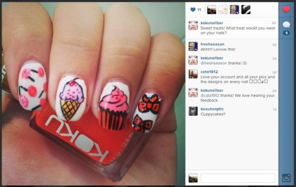 The amazing and talented Lisa Holden's nail art!