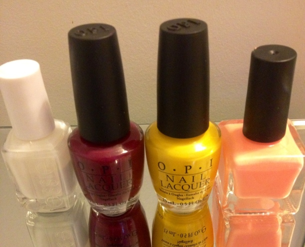 OPI, essie and urban outfitter nail polish