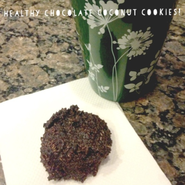 Healthy Chocolate Coconut Cookies