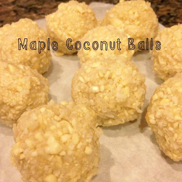 Maple Coconut Balls
